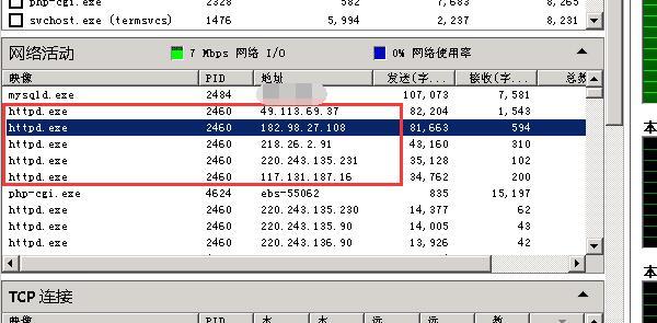 《windows下phpstudy等apache环境带宽使用高的排查和处理》